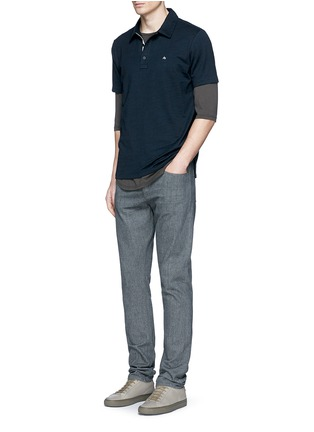 Figure View - Click To Enlarge - rag & bone - 'Standard Issue' cotton blend jersey polo shirt