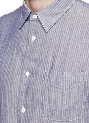 Detail View - Click To Enlarge - rag & bone - 'Beach' stripe reverse cotton shirt