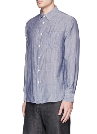 Front View - Click To Enlarge - rag & bone - 'Beach' stripe reverse cotton shirt