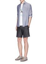 'Beach' stripe reverse cotton shirt