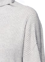 'Kaima' cashmere-silk rib knit sweater