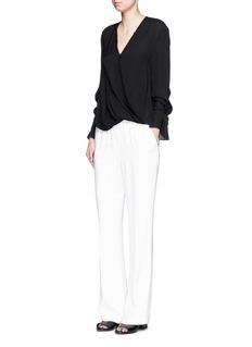 3.1 PHILLIP LIMBow tie sleeve silk crepe blouse