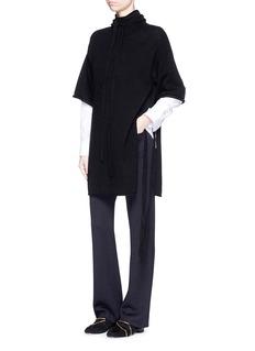 3.1 PHILLIP LIMSide tie wool-yak-cashmere poncho