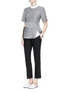 3.1 PHILLIP LIMCable knit effect cloqué jacquard top