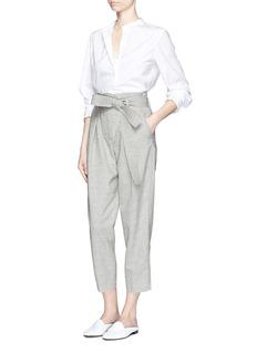 3.1 PHILLIP LIMPaperbag waist wool-linen pants