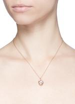 18k white gold diamond zodiac charm - Libra