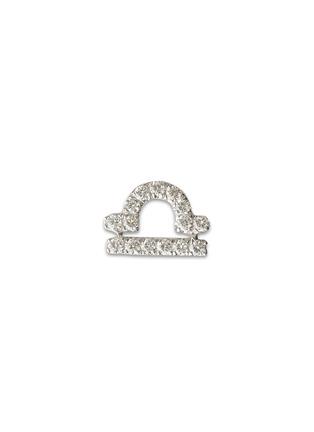 Loquet London-18k white gold diamond zodiac charm - Libra