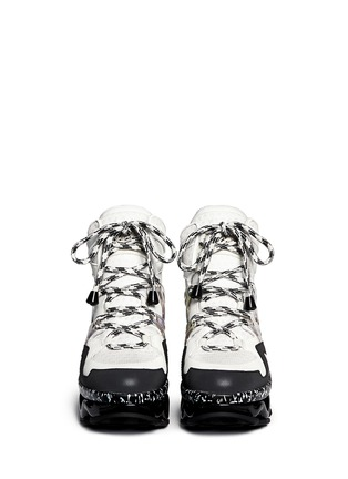 Figure View - Click To Enlarge - Marc by Marc Jacobs - 'Ninja' zigzag rubber platform leather sneakers