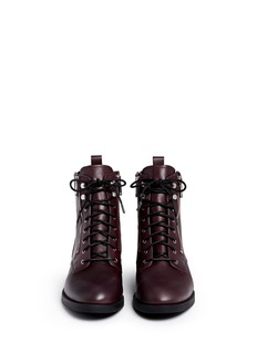 MARC BY MARC JACOBS 'Montague' multi zip lace-up ankle boots