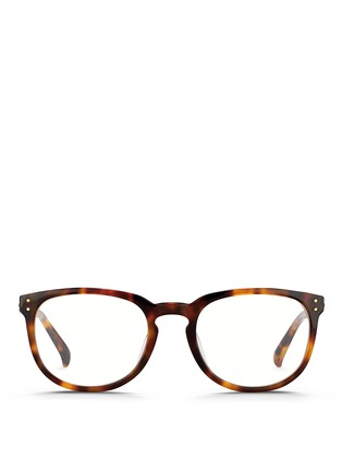 Main View - Click To Enlarge - Linda Farrow - Keyhole bridge tortoiseshell acetate optical glasses