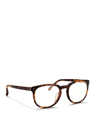 Figure View - Click To Enlarge - Linda Farrow - Keyhole bridge tortoiseshell acetate optical glasses