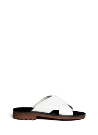 Main View - Click To Enlarge - Robert Clergerie - 'Bart' crisscross strap sandals
