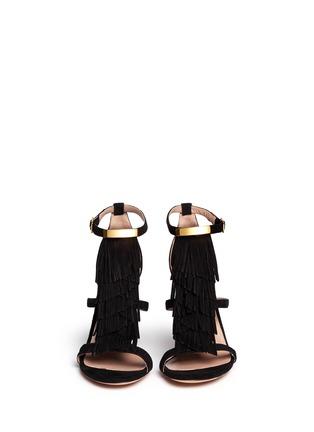 模特儿示范图 - 点击放大 - CHLOÉ - Tassel fringe suede sandals