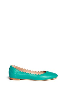 CHLOÉ Scalloped edge leather flats