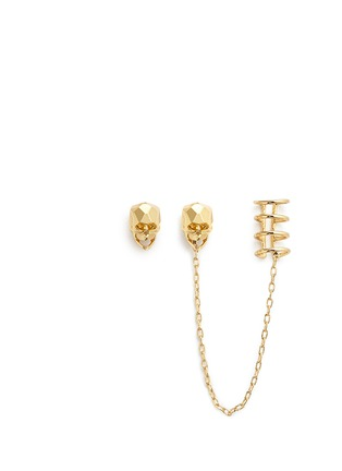 Main View - Click To Enlarge - Joomi Lim - 'London Calling' skull earring and cuff set