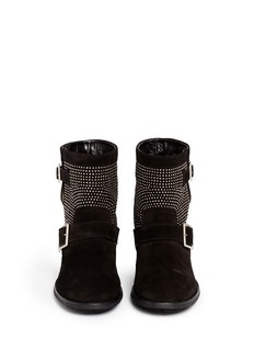 JIMMY CHOO'Youth' micro stud suede boots