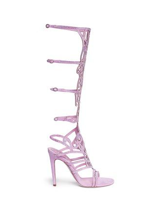 Main View - Click To Enlarge - René Caovilla - 'Marlene' crystal spiral Venetian sandals