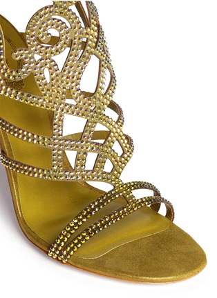 Detail View - Click To Enlarge - René Caovilla - 'Marlene' crystal spiral Venetian sandals
