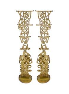 RENÉ CAOVILLA'Marlene' crystal spiral Venetian sandals