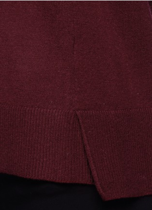 Detail View - Click To Enlarge - Vince - Split side cashmere sweater