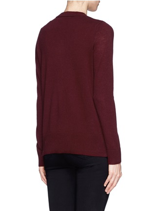 Back View - Click To Enlarge - Vince - Split side cashmere sweater