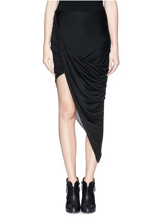 Main View - Click To Enlarge - Helmut Lang - Asymmetric wrap jersey skirt