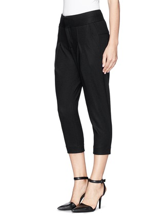 Front View - Click To Enlarge - Helmut Lang - 'Sonar' pleat slouch wool pants