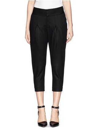 Main View - Click To Enlarge - Helmut Lang - 'Sonar' pleat slouch wool pants