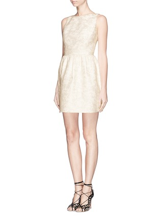 Front View - Click To Enlarge - alice + olivia - 'Lillyanne' jacquard shift dress