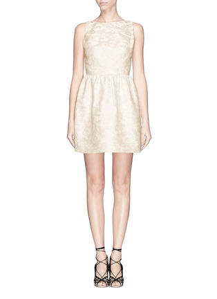 Main View - Click To Enlarge - alice + olivia - 'Lillyanne' jacquard shift dress