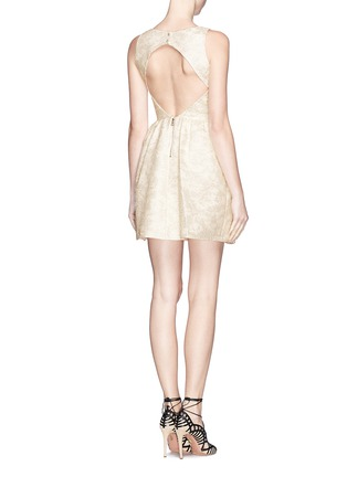 Figure View - Click To Enlarge - alice + olivia - 'Lillyanne' jacquard shift dress