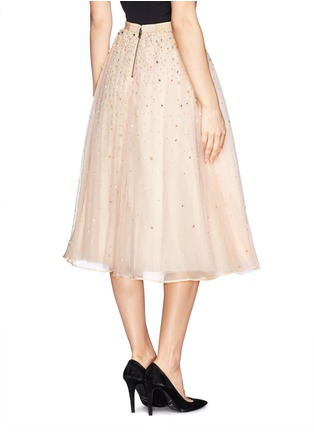 Back View - Click To Enlarge - alice + olivia - 'Rina' strass bead tulle skirt
