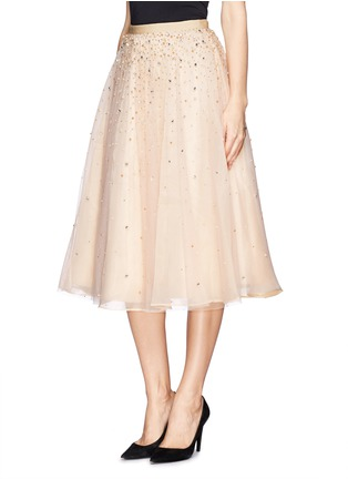 Front View - Click To Enlarge - alice + olivia - 'Rina' strass bead tulle skirt
