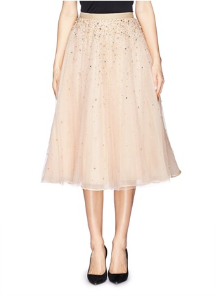 Main View - Click To Enlarge - alice + olivia - 'Rina' strass bead tulle skirt