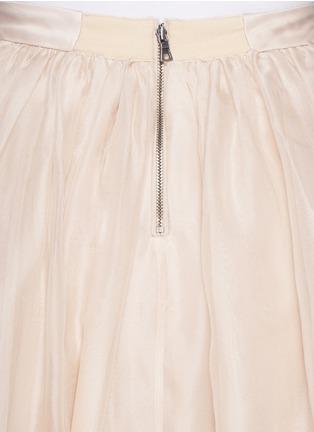 Detail View - Click To Enlarge - alice + olivia - 'Abella' silk organza maxi skirt