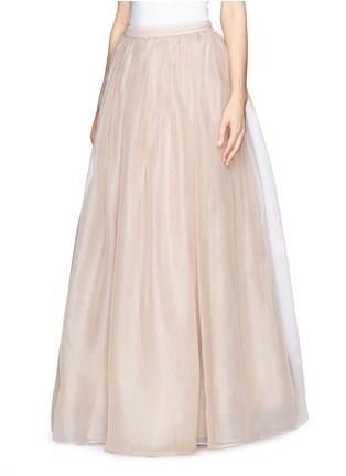 Front View - Click To Enlarge - alice + olivia - 'Abella' silk organza maxi skirt