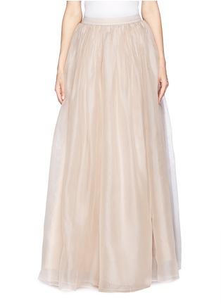 Main View - Click To Enlarge - alice + olivia - 'Abella' silk organza maxi skirt