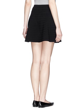 Back View - Click To Enlarge - Theory - 'Rortie' prosecco flare skirt