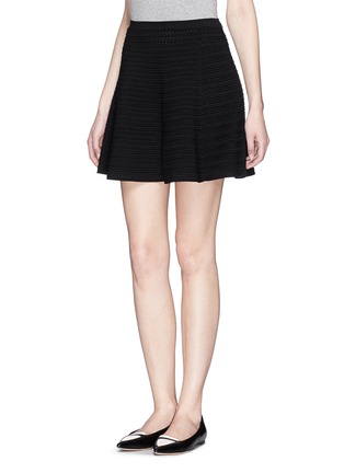 Front View - Click To Enlarge - Theory - 'Rortie' prosecco flare skirt