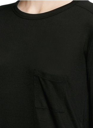Detail View - Click To Enlarge - T By Alexander Wang - Patch chest pocket long sleeve T-shirt