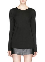 Patch chest pocket long sleeve T-shirt