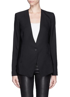 HELMUT LANG Collarless fine wool smoking jacket