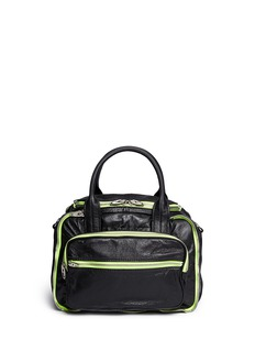 ALEXANDER WANG 'Eugene' neon zip leather bag