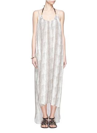 Detail View - Click To Enlarge -  - Melissa lizard print satin maxi dress