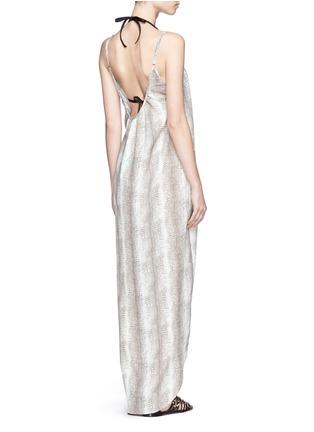 Front View - Click To Enlarge -  - Melissa lizard print satin maxi dress
