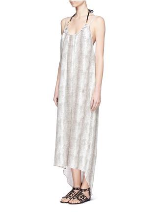 Figure View - Click To Enlarge -  - Melissa lizard print satin maxi dress