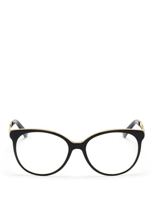 Main View - Click To Enlarge - Gucci - Metal arm acetate frame optical glasses