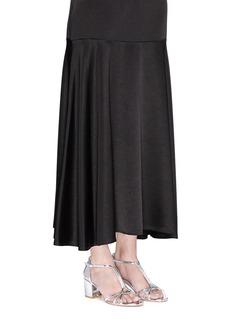 Stuart Weitzman'Sun Dress' mirror leather T-bar sandals