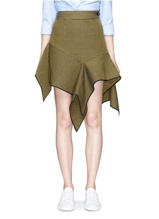 Main View - Click To Enlarge - Jinnnn - Asymmetric drape waffle effect skirt