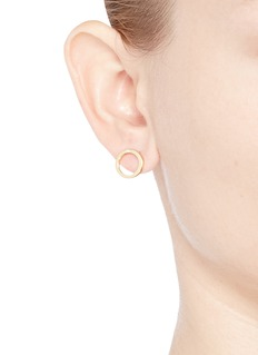 Phyne By Paige Novick Diamond 18k yellow gold earrings